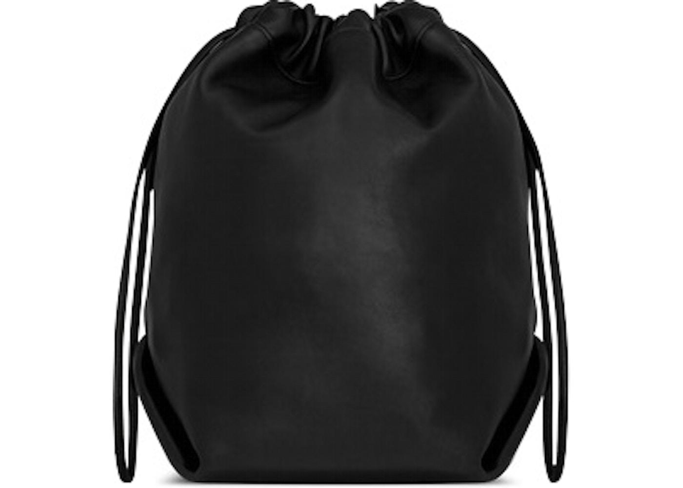 Saint Laurent Teddy Drawstring Bag Smooth Leather Black 9f9169272cec0