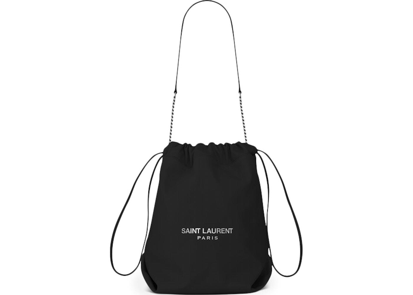 Saint Laurent Teddy Drawstring Bag Smooth Leather Black. Smooth Leather  Black 6f0dd8abb0808