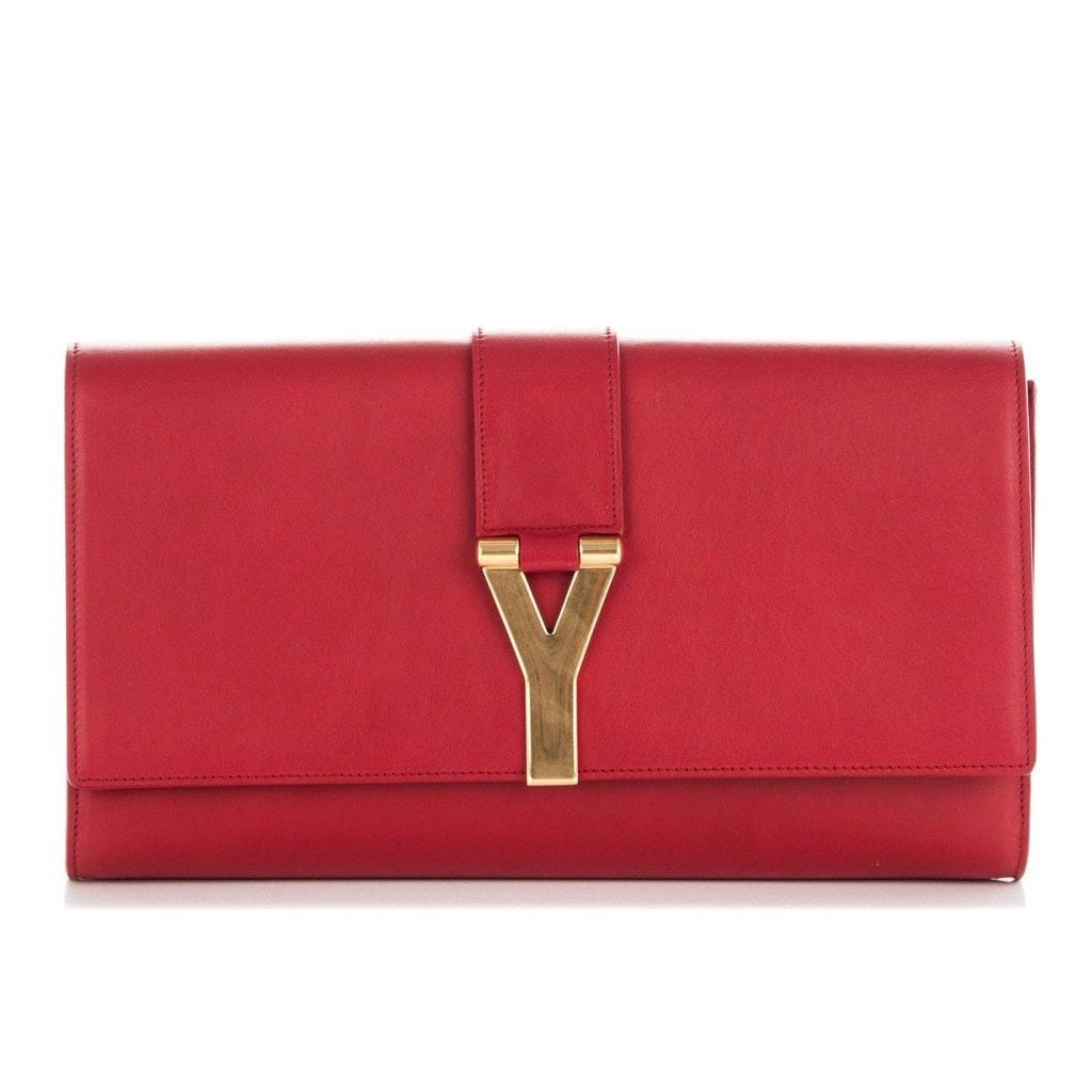 Saint Laurent Y Clutch Large Red