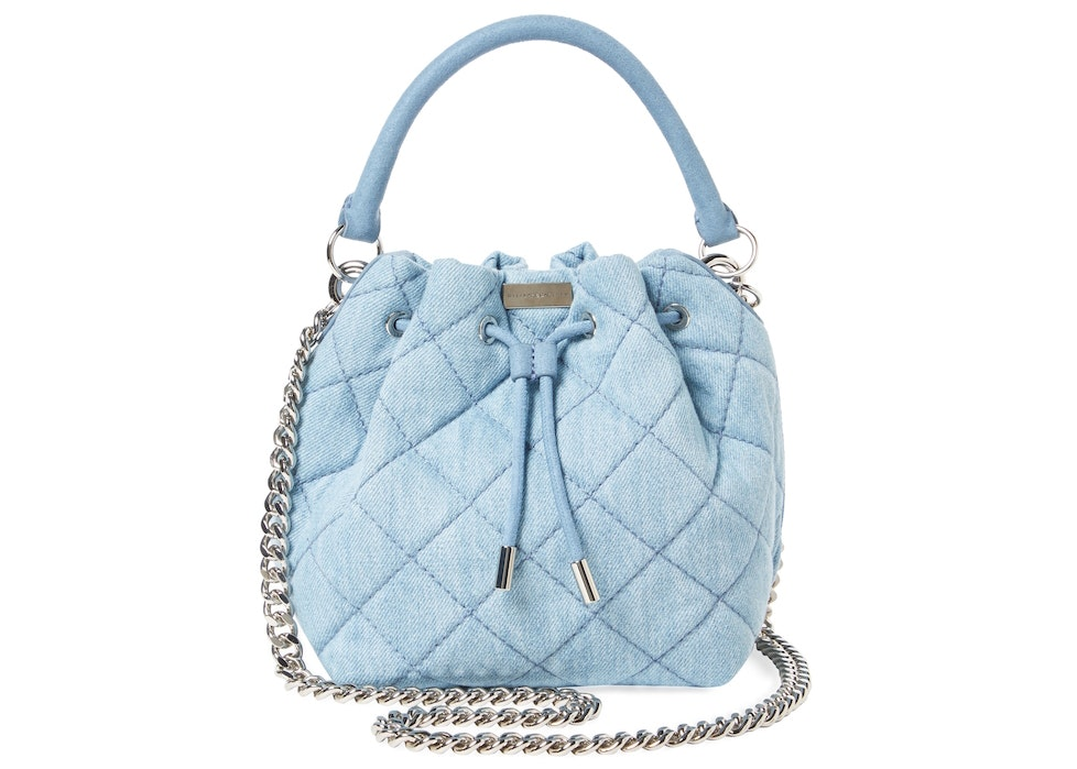 Stella McCartney Bucket Bag Falabella Quilted Blue