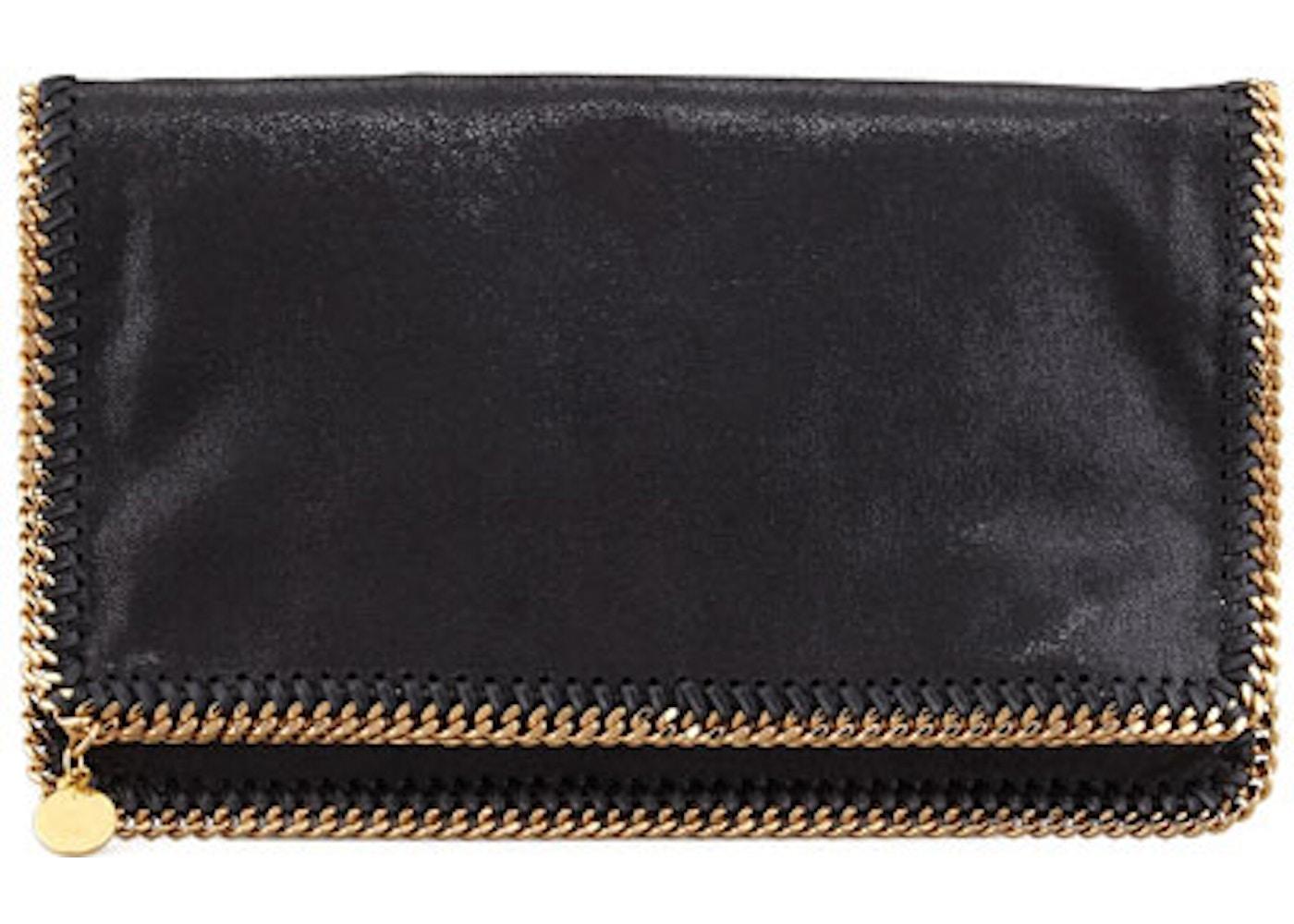 d66c7ef87f Stella McCartney Clutch Falabella Fold-Over Brushed Black. Brushed Black
