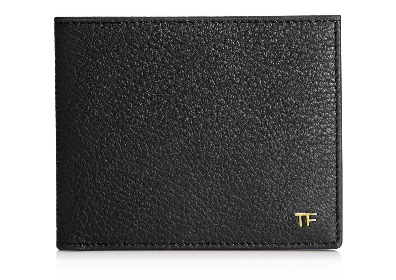 Tom Ford Bi-Fold Wallet Pebbled Black
