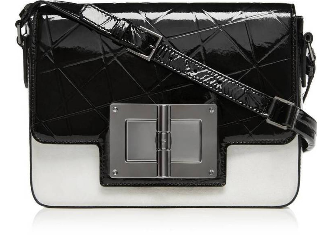 dedf8bf6e2c3b Tom Ford Natalia Day Bag Crossbody Medium Black/White. Medium Black/White