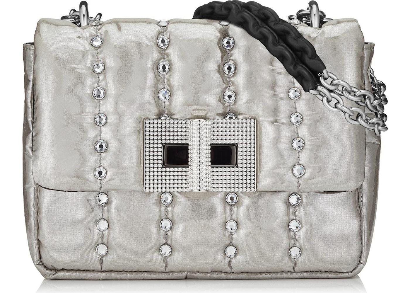 c738a35d2 Tom Ford Natalia Shoulder Bag Disco Quilted Crystal Small Silver. Disco  Quilted Crystal Small Silver