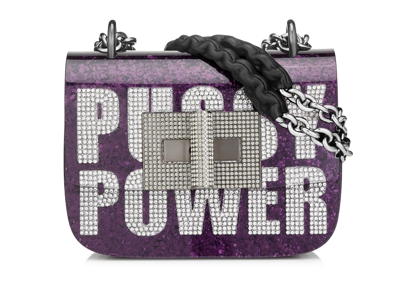 Tom Ford Natalia Shoulder Bag Pussy Power Purple