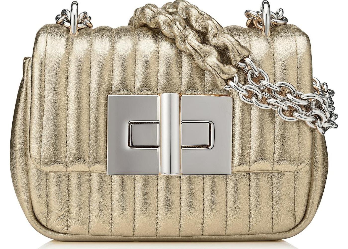 d1dab253e Tom Ford Soft Natalia Shoulder Bag Quilted Mini Pale Gold. Quilted Mini  Pale Gold