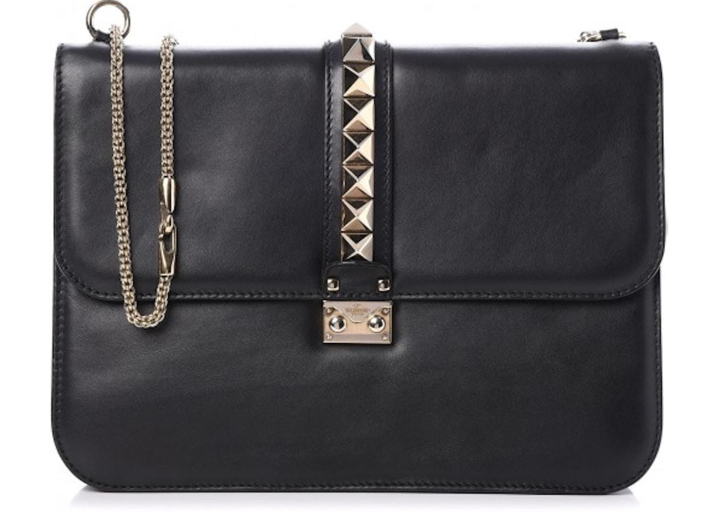 a88708773d0c Valentino Glam Lock Rockstud Flap Large Black. Large Black