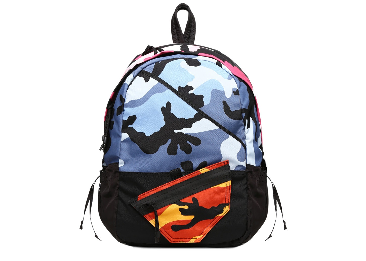 Valentino Nylon Backpack Multi Camouflage Multicolored