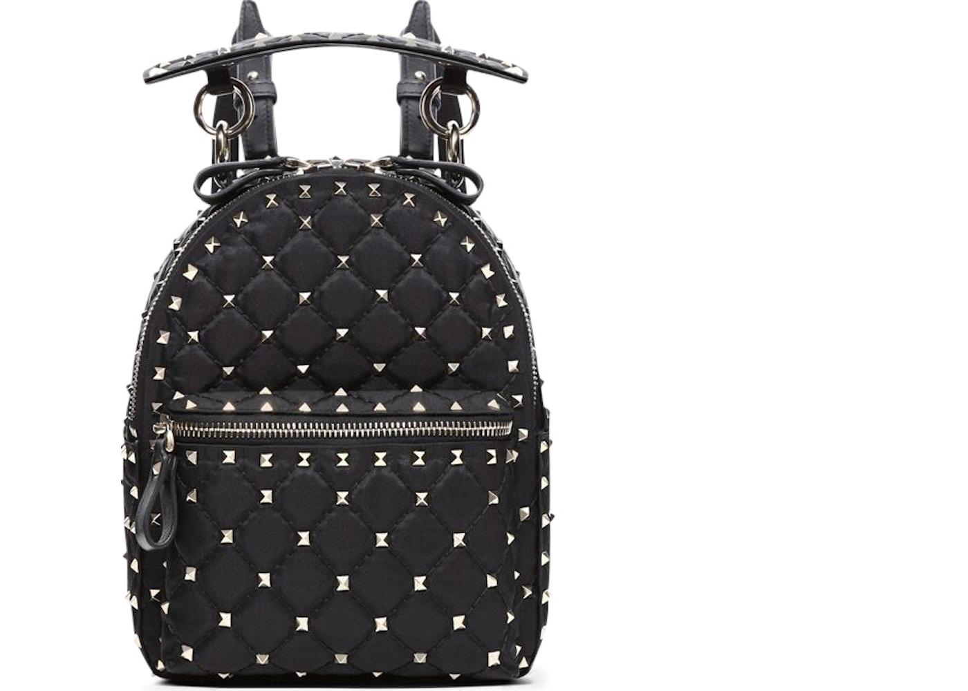 75942b487c Valentino Rockstud Spike Backpack Nylon Mini Black. Nylon Mini Black