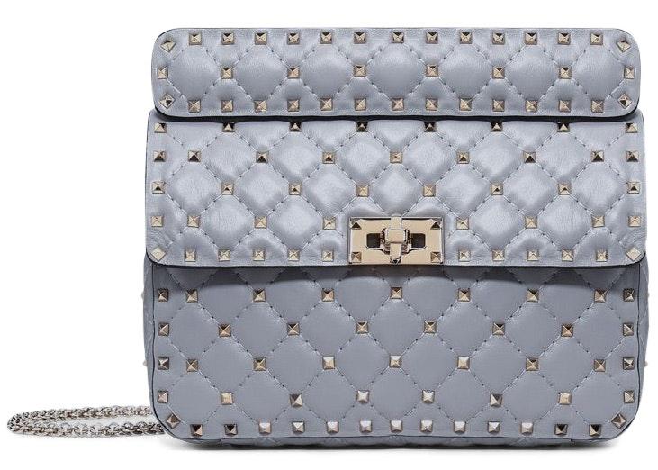 Valentino Rockstud Spike Bag Medium Slate Blue