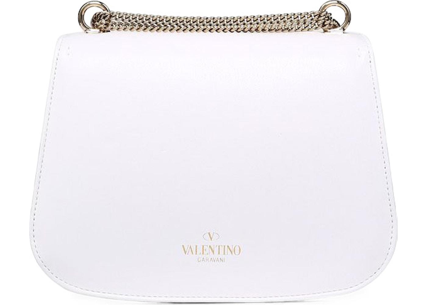 de6a0ddce Valentino Shoulder Strap Saddle VLTN White