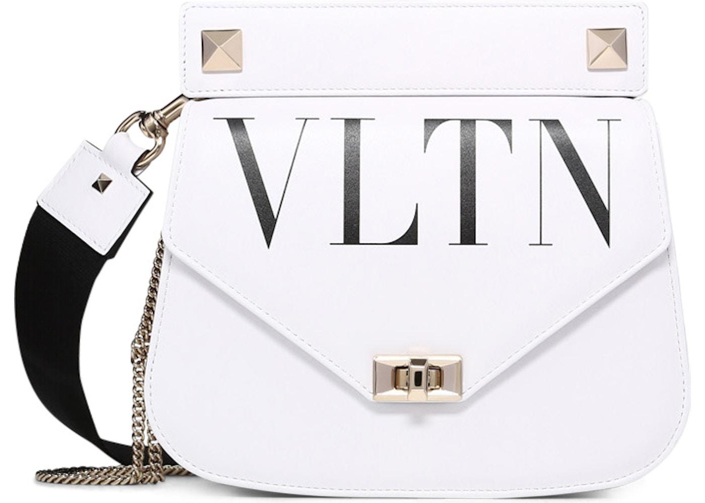 86d9004fa Valentino Shoulder Strap Saddle VLTN White. VLTN White
