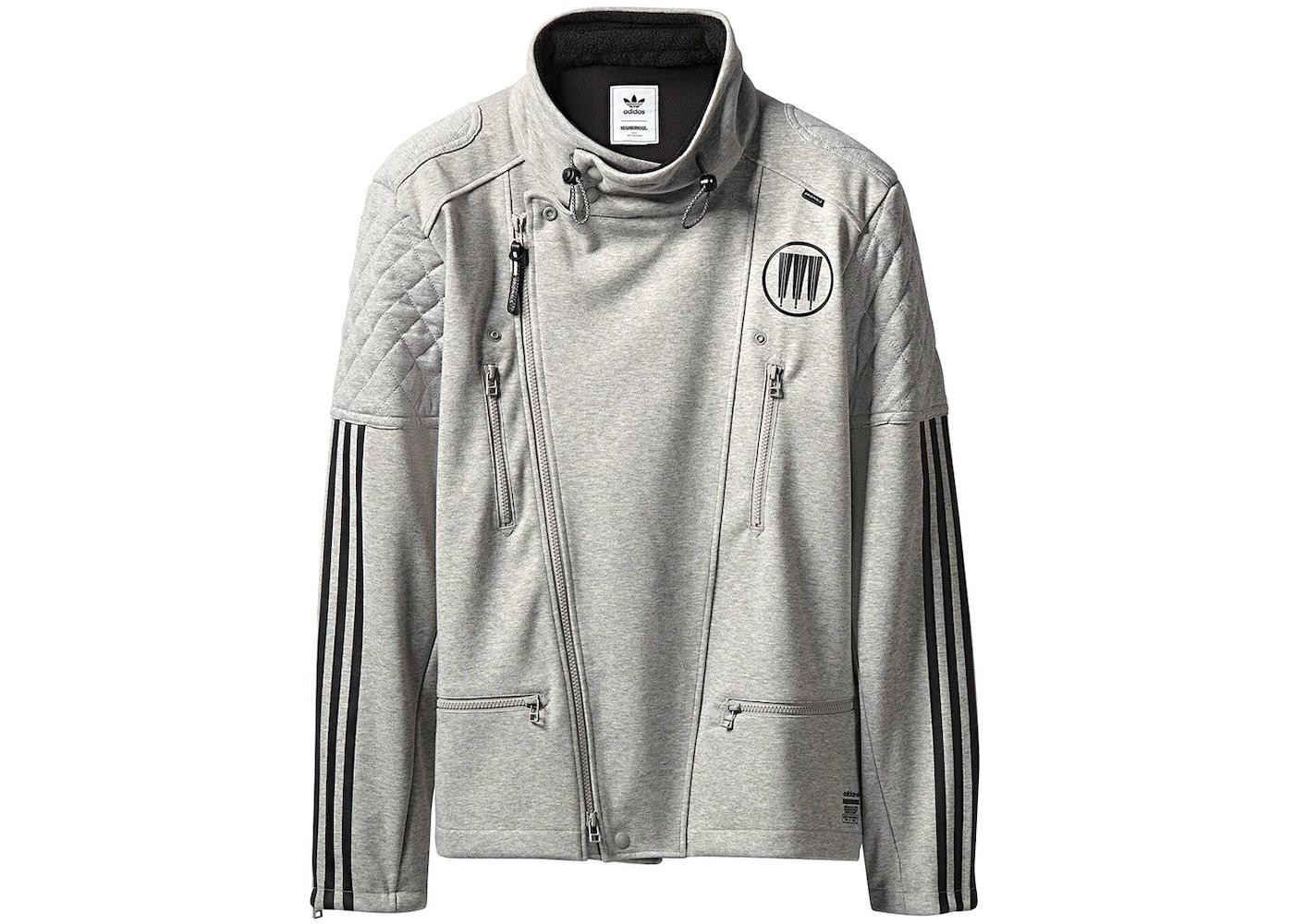 2c7d2ddca9a2 adidas Neighborhood Riders Track Jacket Grey - SS18