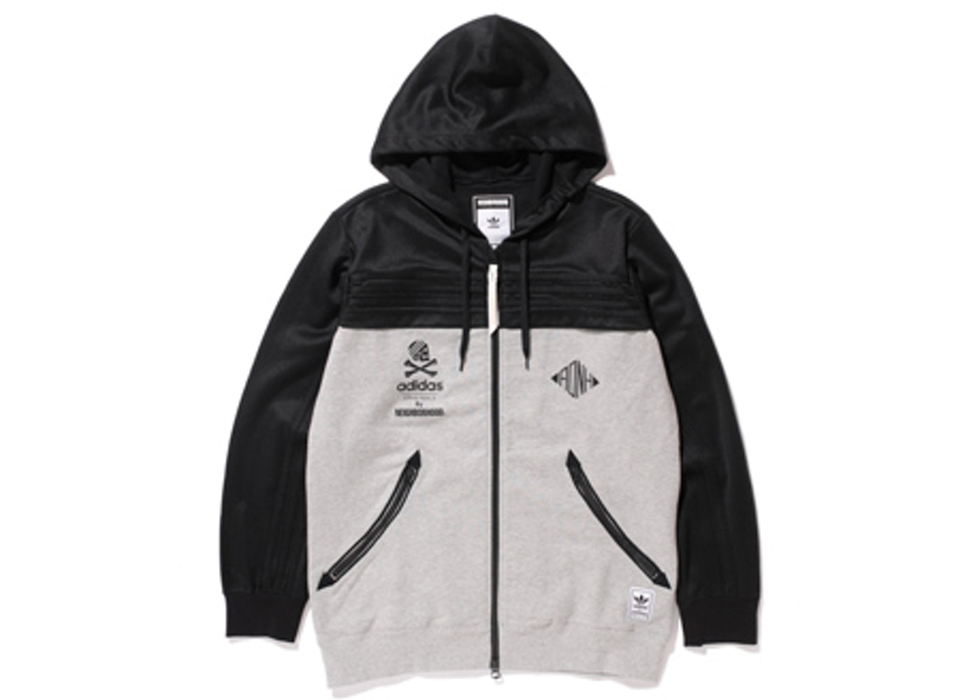 adidas Neighborhood Zip Up Hoodie BlackGrey SS15
