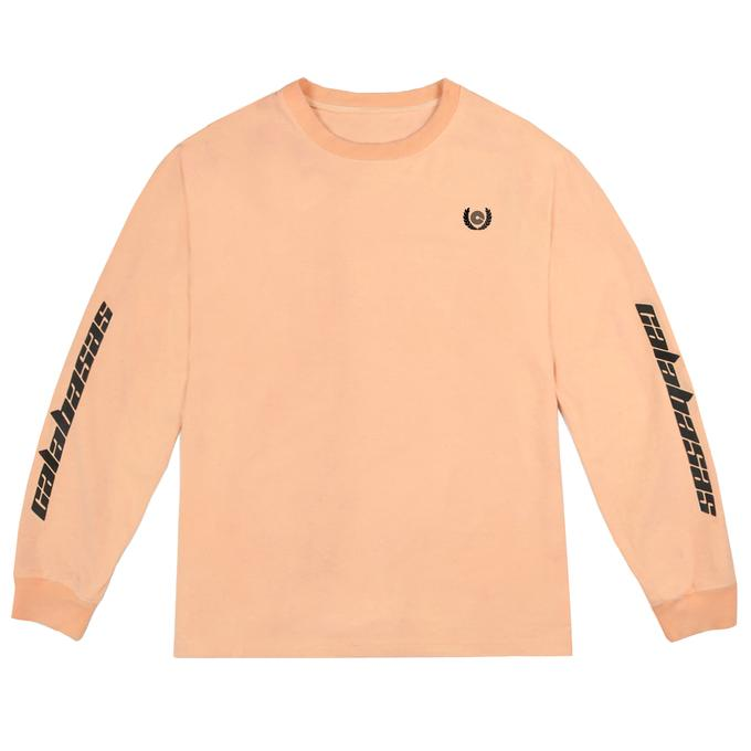 Long Yeezy Calabasas Sleeves Neon Tee Orange Adidas A4L5Rj