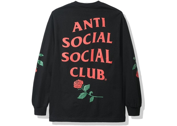 Anti Social Social Club Violets Are Blue Long Sleeve Tee Black