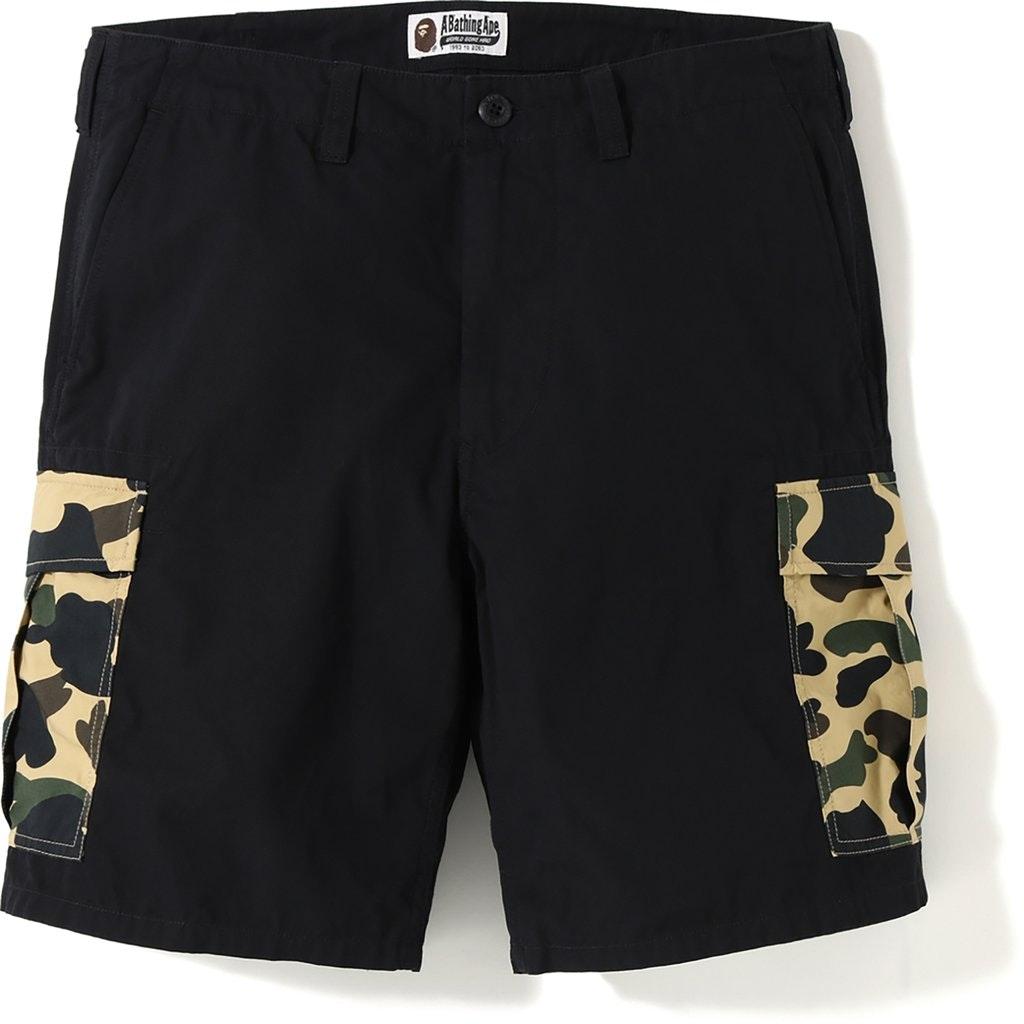 BAPE 1st Camo 6 Pocket Shorts Black