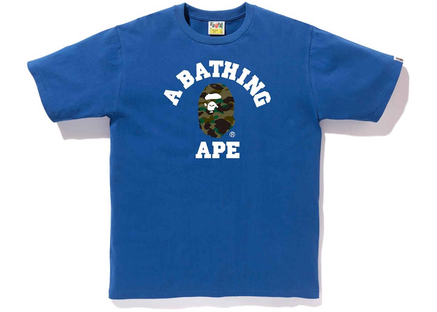 Bape 1st Camo College Tee Blue/Green by Stock X