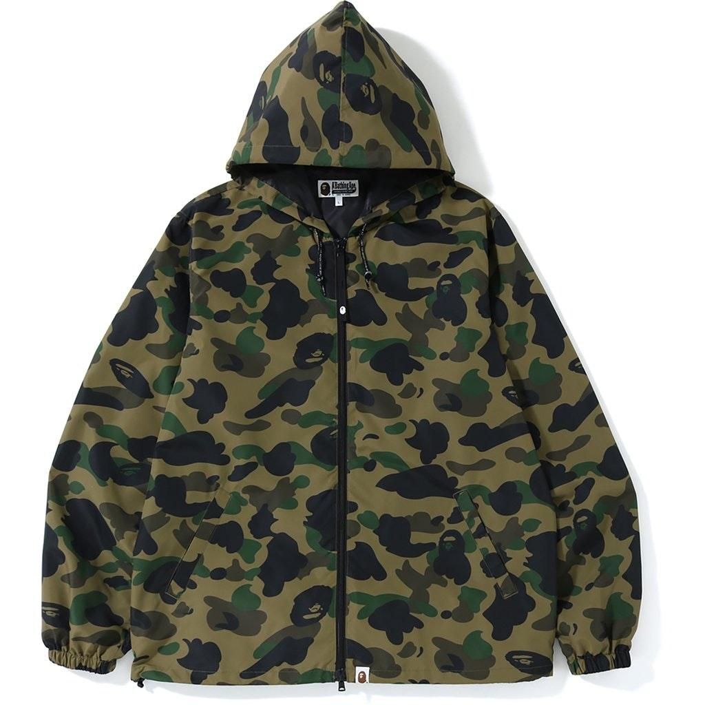 BAPE 1st Camo Hoodie Jacket (SS19) Green