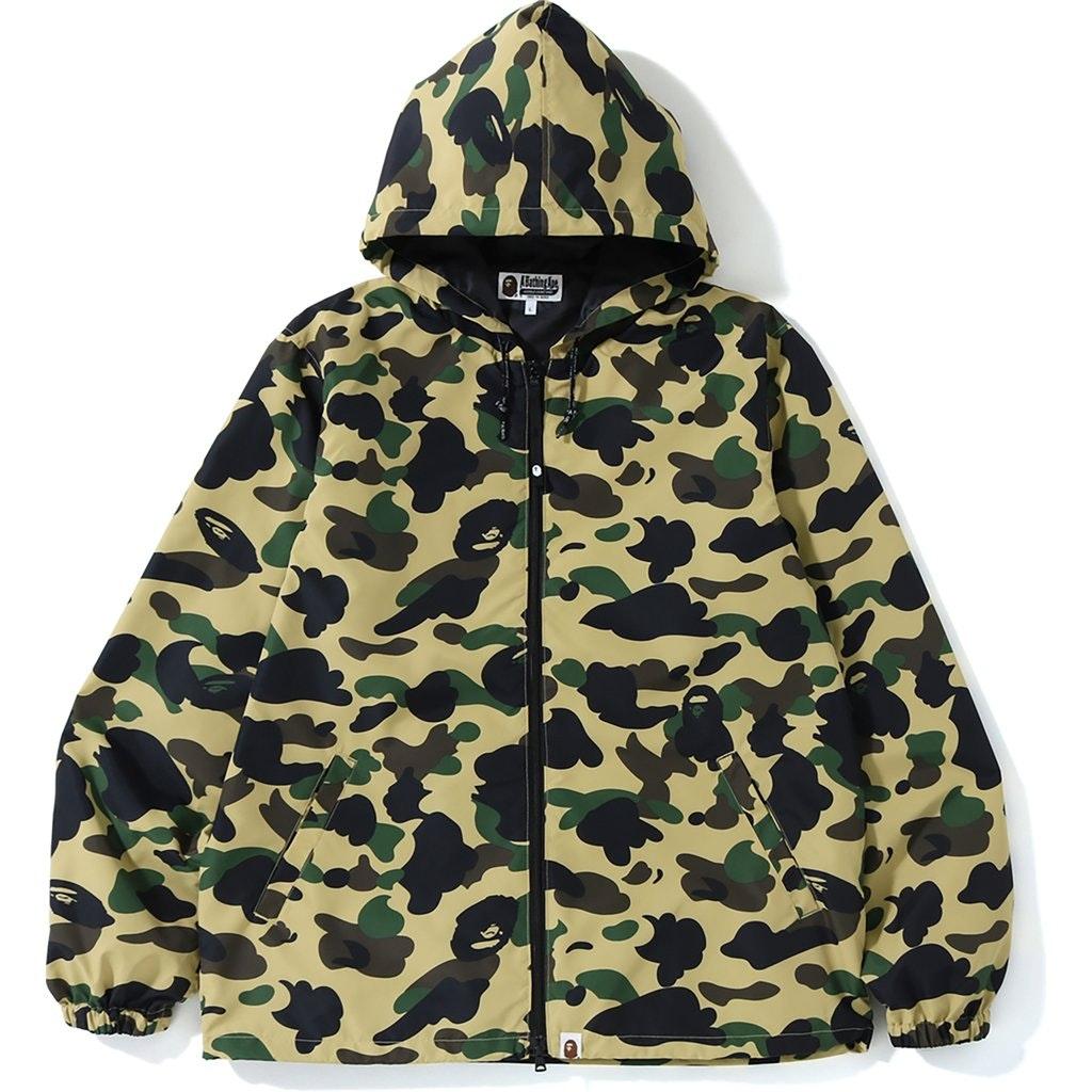 BAPE 1st Camo Hoodie Jacket (SS19) Yellow