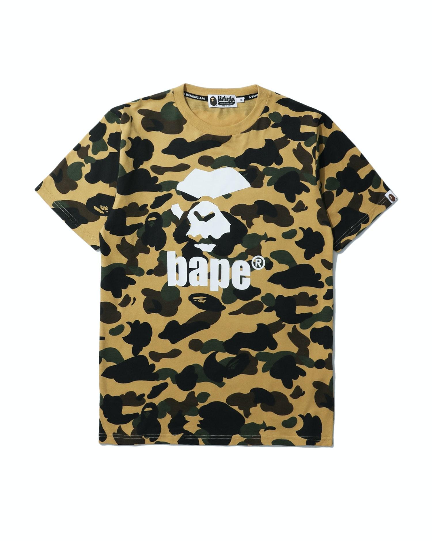 BAPE 1st Camo Mad Ape Tee Yellow