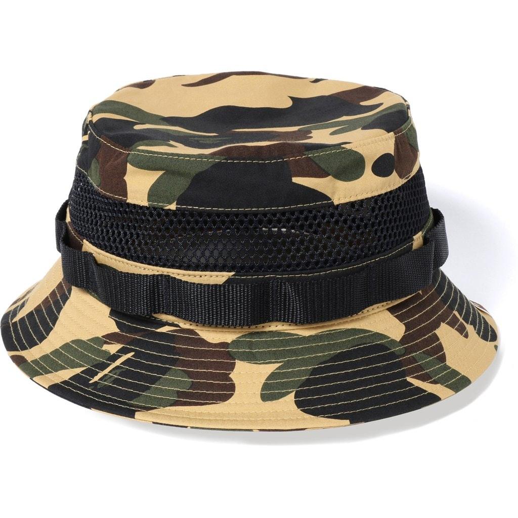 BAPE 1st Camo Military Mesh Hat Yellow