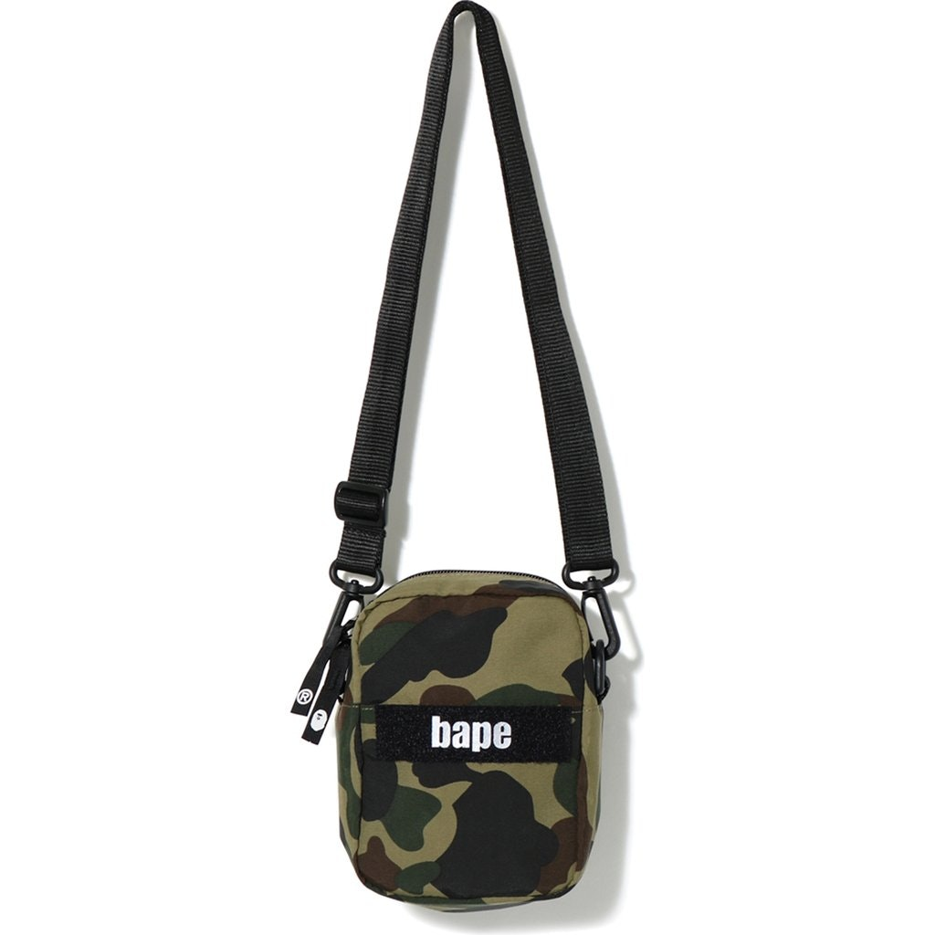 BAPE 1st Camo Military Shoulder Bag Green
