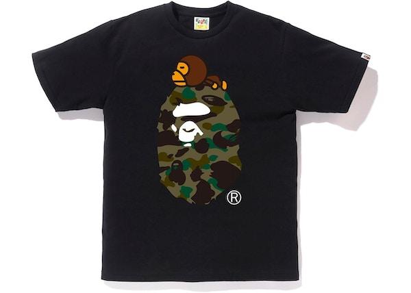 37a346c5d BAPE 1st Camo Milo on Big Ape Tee Black/Green