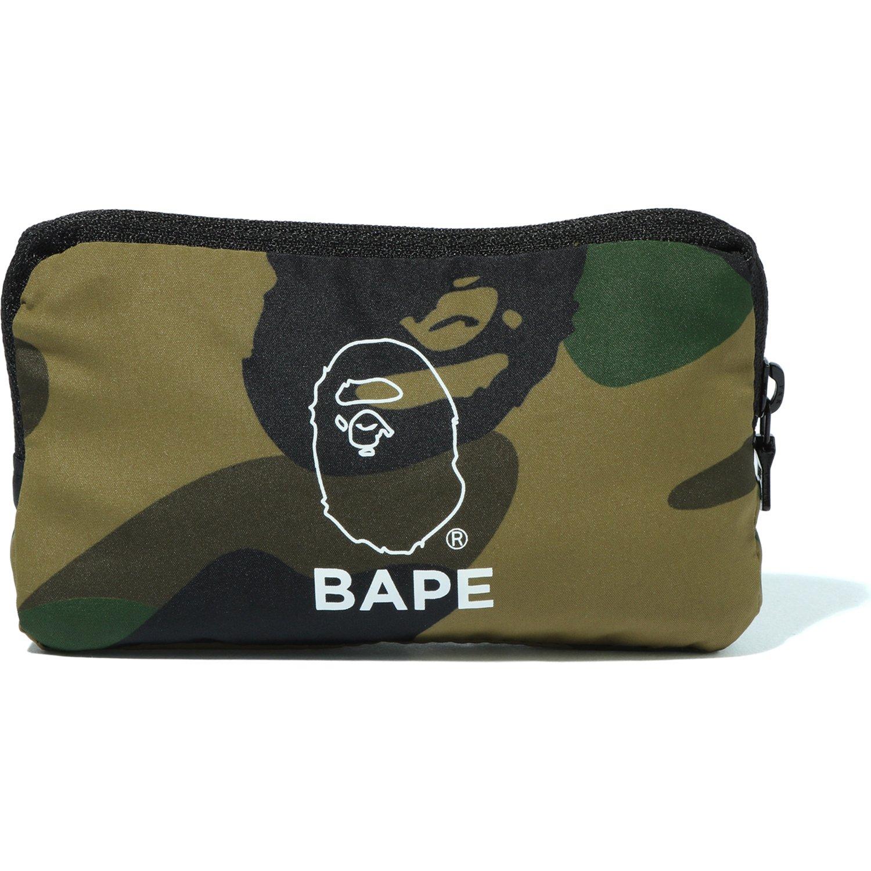 Bape 1st Camo Packable Tote Bag Green