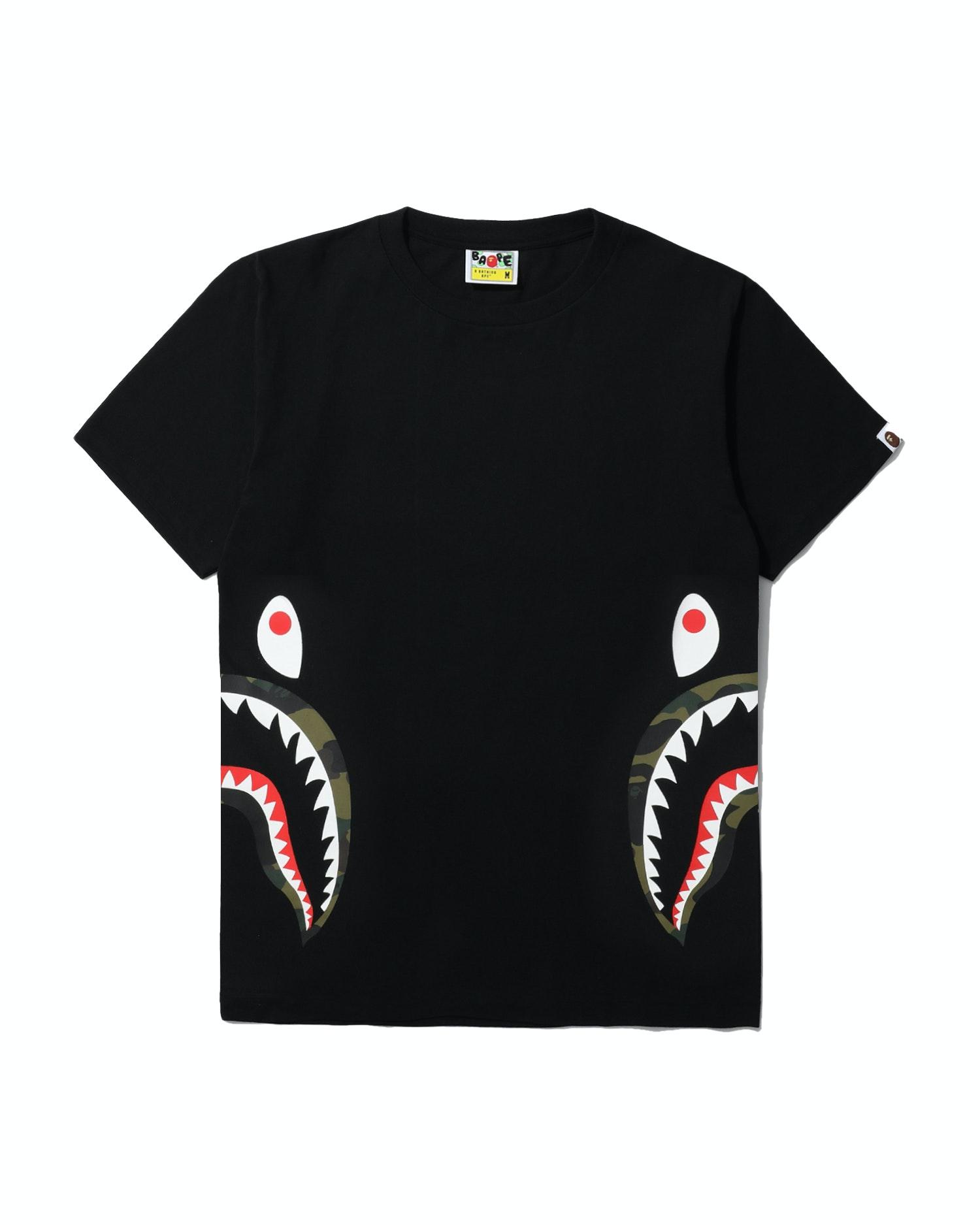 BAPE 1st Camo Side Shark Tee Black/Green