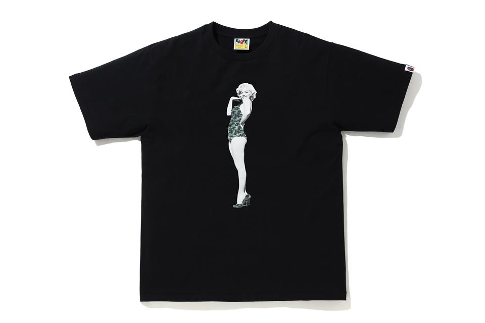 BAPE A BATHING APE x Marilyn Monroe Tee Black