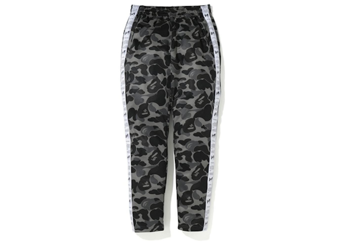 54f4e007 BAPE ABC Bapesta Tape Jersey Pants Black - FW19