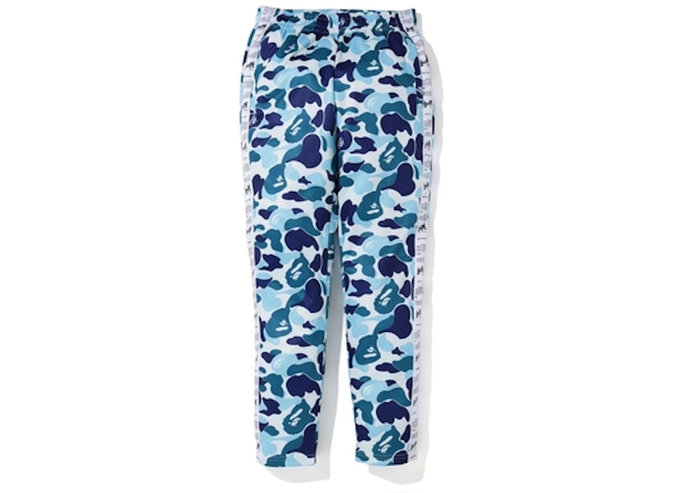 a7ee445f BAPE ABC Bapesta Tape Jersey Pants Blue. ABC Bapesta Tape Jersey