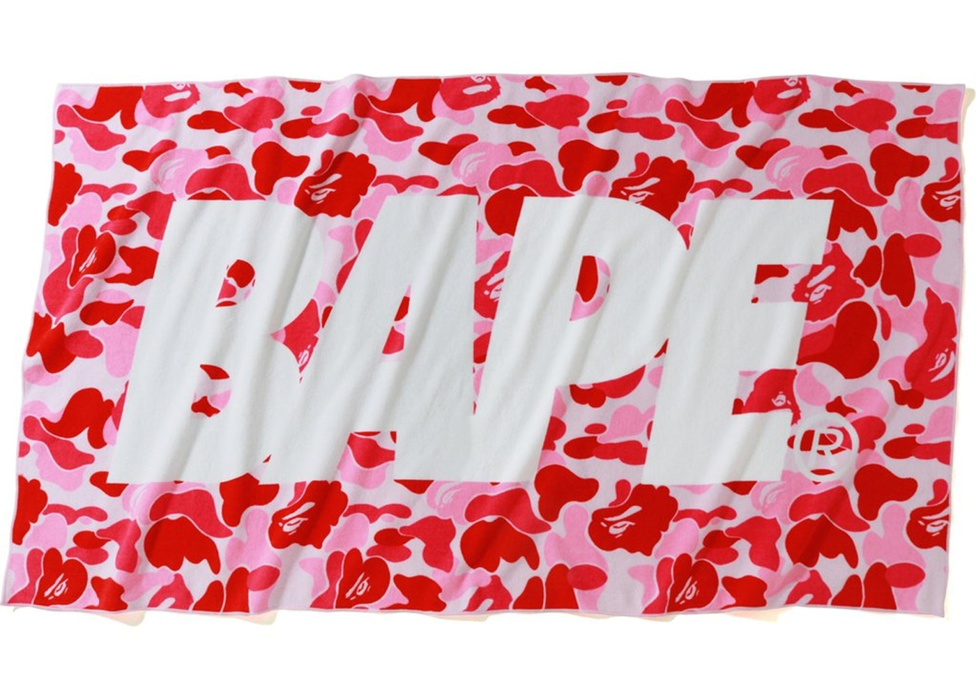 173a6742 BAPE ABC Beach Towel Pink — HypeAnalyzer