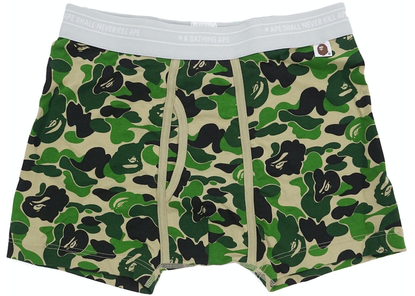 45dd848f653ce BAPE ABC Camo Boxer Trunks Green -