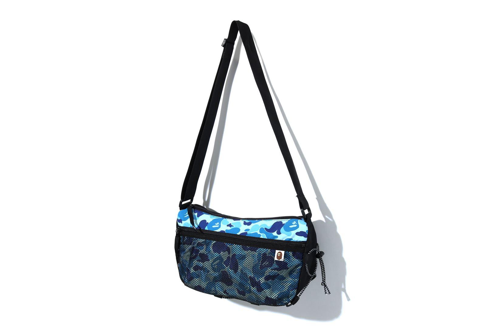 Bape Abc Camo Bungee Cord Shoulder Bag Blue