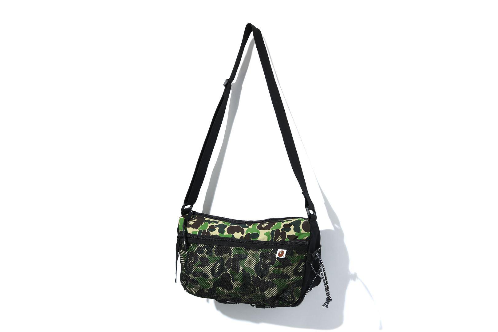 Bape Abc Camo Bungee Cord Shoulder Bag Green