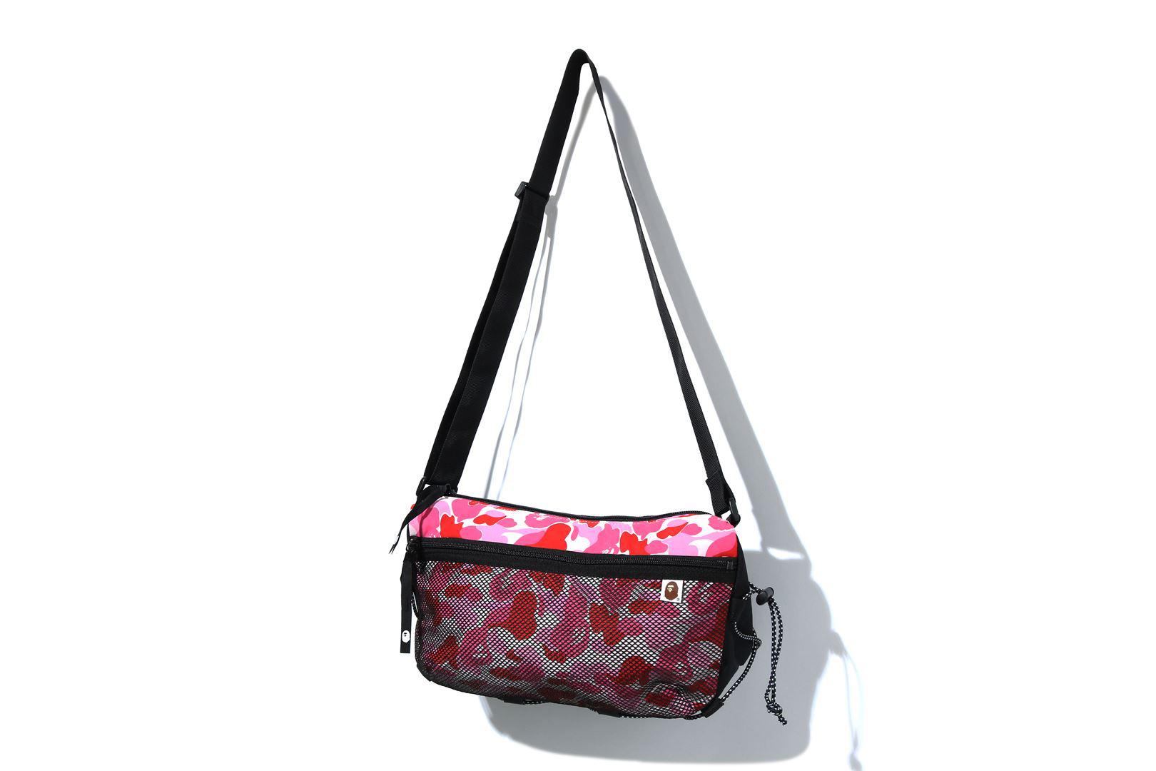 Bape Abc Camo Bungee Cord Shoulder Bag Pink