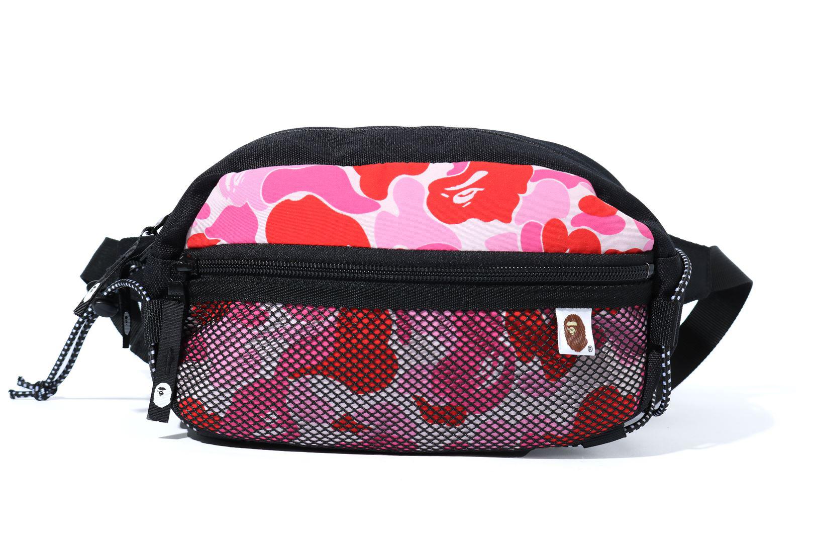 Bape Abc Camo Bungee Cord Waist Bag Pink