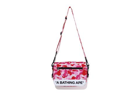 BAPE ABC Camo Double Strap Bag Pink