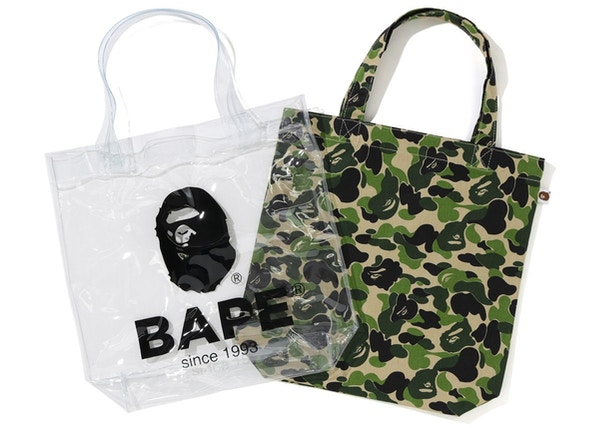 ec415139 BAPE ABC Clear Tote Bag Green