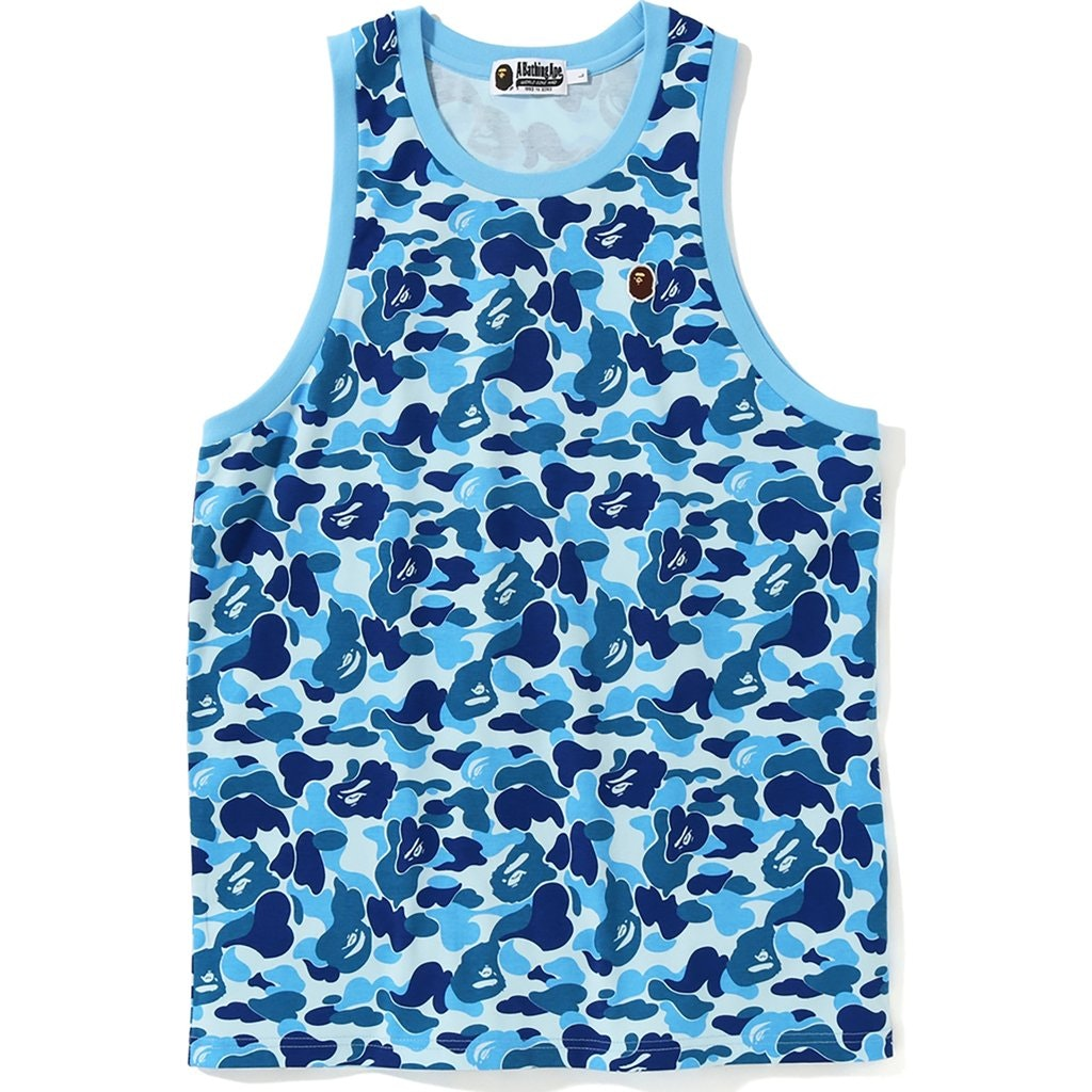 BAPE ABC One Point Tank Top Blue