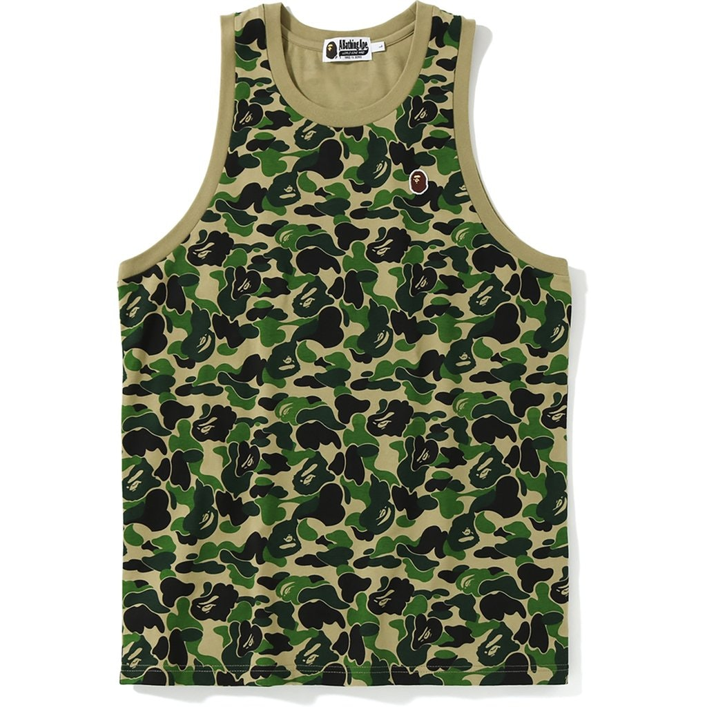BAPE ABC One Point Tank Top Green