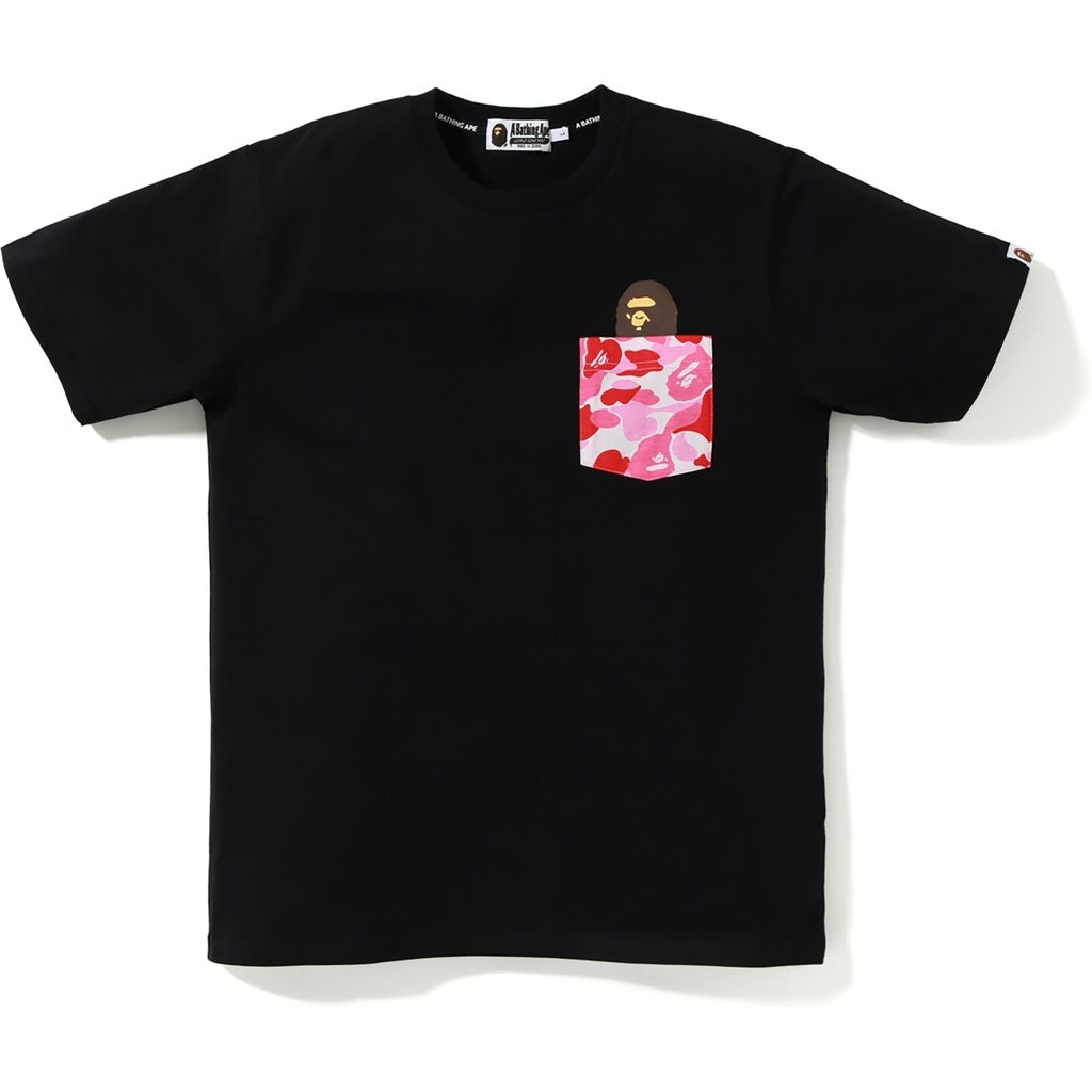 BAPE ABC Pocket Tee Black/Pink