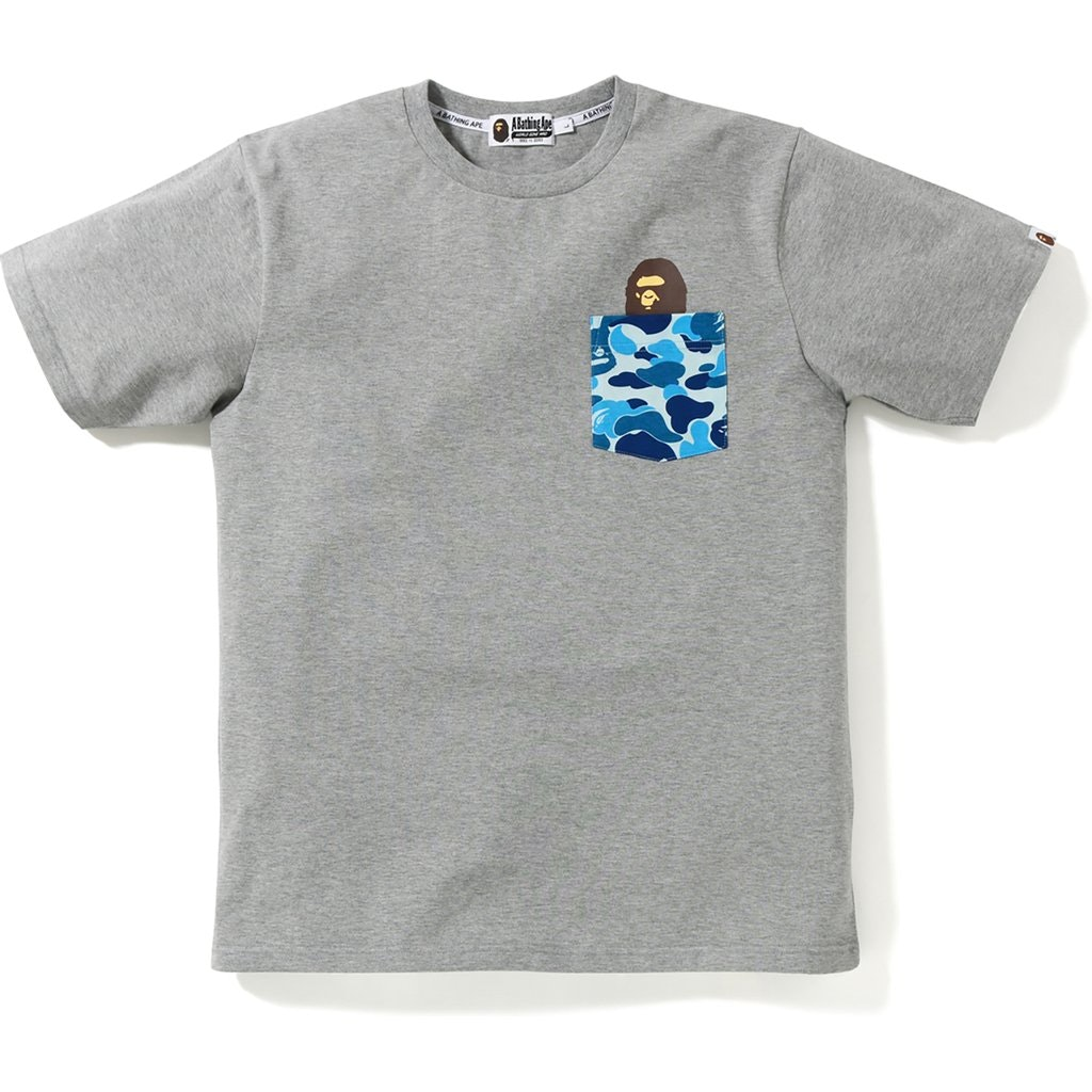 BAPE ABC Pocket Tee Grey/Blue