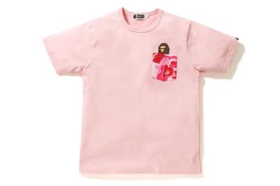 BAPE ABC Pocket Tee Pink/Pink