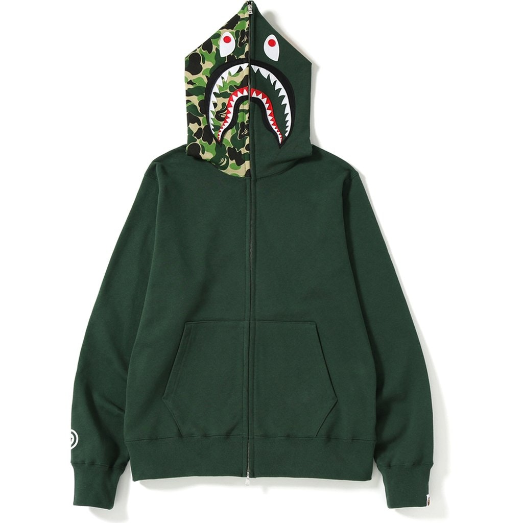 BAPE ABC Shark Full Zip Hoodie (SS19) Green