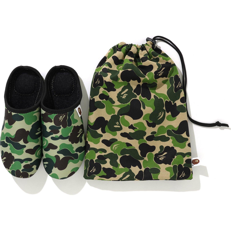 BAPE ABC Slippers \u0026 Pouch Set Green - FW19