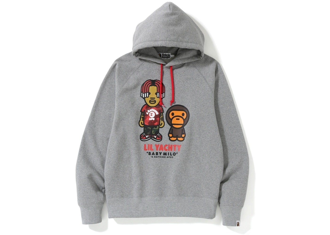 f42670ae BAPE Baby Milo x Lil Yachty Pullover Hoodie Grey - SS19