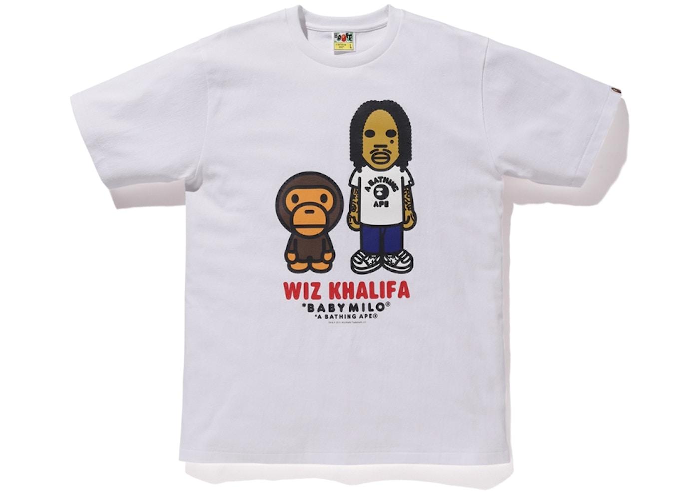 880fc6e9 BAPE Baby Milo x Wiz Khalifa Tee White - FW19
